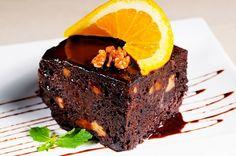 .: كيك الشوكولاته بعصير البرتقال