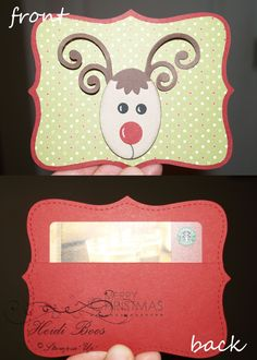 same design but add a cover flap for over the back to cover the card