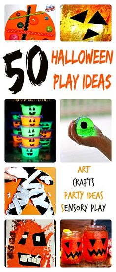 A collection of all the funnest and easiest Halloween themed activities for kids. You can choose from Halloween art, Halloween crafts for kids, Halloween Party Games and Halloween sensory activities. Ton of wonderful ideas!