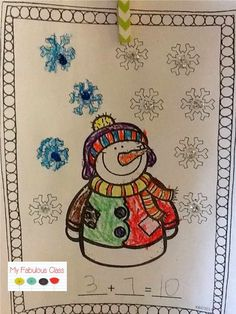 Snowman Sums of 10. My Fabulous Class: Snow Much Fun! {FREEBIE}