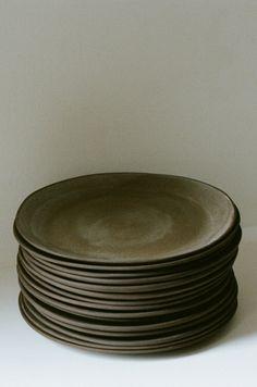Handmade plates by Olivia Fiddes