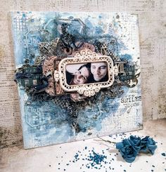 Canvas by Virág Réti Wedding Scrapbook, My Scrapbook, Mixed Media Art, Scrapbooks, Crafty, Canvas, Art Journaling, Frame, Inspiration