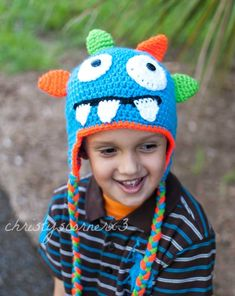 5d5a2bc9cf5 Monster Hat Baby Boy Hat Crochet Boys Hat Crochet Monster Hat. Crochet Hats  ...