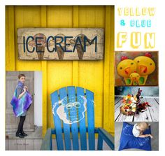 """""""Yellow and blue FUN!"""" by kropkadesign ❤ liked on Polyvore featuring interior, interiors, interior design, home, home decor, interior decorating and Sola"""