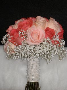 Coral roses... bride's bouquet