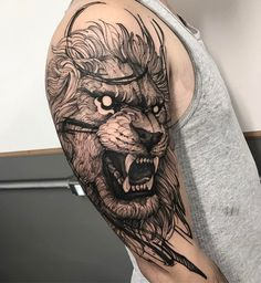 Trendy tattoo ideas for men sketches style ideas Tattoos 3d, Lion Head Tattoos, Dope Tattoos, Badass Tattoos, Tiger Tattoo, Animal Tattoos, Unique Tattoos, Body Art Tattoos, Girl Tattoos