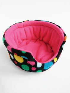 Fleece cuddle cup bed for guinea pigs and hedgehogs. Flip it upside down to use as a hidey hut. 2 uses in 1 item! Pygmy Hedgehog, Fleece Projects, Syrian Hamster, Pet Cage, Animal Projects, Hut House, Pet Treats, Diy Stuffed Animals, Pet Gifts