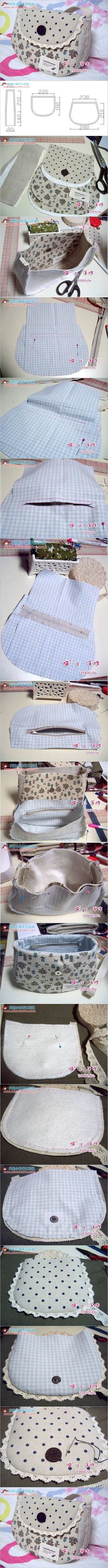 How to Sew a Simple Summer Handbag #craft #sewing #handbag