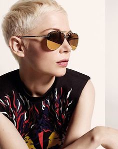 Michelle Williams with Gucci - Cute pixie cut. http://eroticwadewisdom.tumblr.com/
