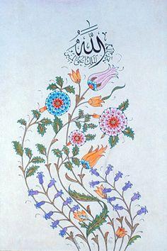 :: Prof. Dr. İlhan ÖZKEÇECİ :: Eastern Floral, Islamic Patterns, Iranian Art, Turkish Art, Islamic Art Calligraphy, Religious Art, Henna Designs, Traditional Art, Love Art
