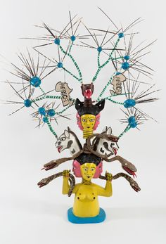 John Goba, The Missellinius Mask Head, 2015 Contemporary African Art, Sculpture, Drawing, Tweety, Illustration Art, Painting, Gallery, Art Art, Fictional Characters
