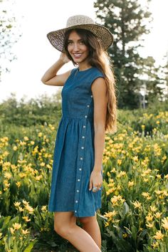 All Denim Day Dress – cladandcloth