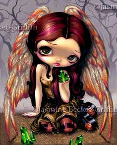 Fairy Art Prints Archives - Page 8 of 35 - Strangeling: The Art of Jasmine Becket-Griffith Amy Brown, Pink Brown, Kobold, Fairy Pictures, Gothic Fairy, Polychromos, Foto Art, Little Doll, Fairy Art