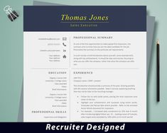 Professional Resume Template Instant Download, Modern Resume Template, Sales Resume Template Word, Creative Resume Template, CV Template by DevelopingCareers on Etsy