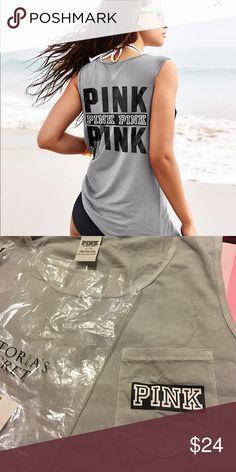 PINK top LARGE VICTORIA SECRET Victoria's Secret Tops Muscle Tees