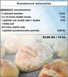 Muffin Bread, Czech Recipes, Ciabatta, Keto Bread, Thing 1, No Bake Cake, Food Hacks, Bread Recipes, Food And Drink