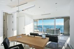 An office with a view in Laguna Beach, CA [1688 x 1125] OC - Interior Design Ideas, Interior Decor and Designs, Home Design Inspiration, Room Design Ideas, Interior Decorating, Furniture And Accessories