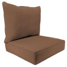 Sunbrella® 24 Inch X 24 Inch 2 Piece Deep Seat Chair Cushion In Husk  Texture Chocolate