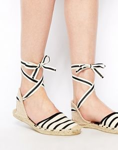 Enlarge Soludos Classic Stripe Natural Flat Sandals