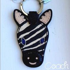 Authentic Coach Keychain Ring Fob NWT Zebra~ Authentic Coach Keychain Ring Fob NWT Zebra~ Coach Accessories Key & Card Holders