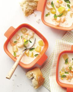 These shrimp soup recipes are a protein-packed, delicious way to incorporate seafood into your meals. From rich and creamy to briny, these shrimp soup recipes are sure to delight. Shrimp Chowder, Shrimp Soup, Chowder Soup, Seafood Stew, Chowder Recipes, Seafood Dinner, Soup Recipes, Cooking Recipes, Soups