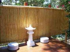 Bamboo Ideas Garden Privacy, Bamboo Fence, Garden Photos, Fence Design, Extensions, Projects To Try, Home And Garden, Woodworking, Yard