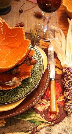 fall place setting....