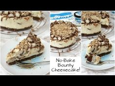 A Coconutty, Sweet, and Delicious No-Bake Bounty Cheesecake that is guaranteed to satisfy anyones Coconut & Cheesecake cravings! I have been wanting to post a. Coconut Loaf Cake, Coconut Cheesecake, Cheesecake Recipes, Cupcake Recipes, Janes Patisserie, Gluten Free Baking, Desert Recipes, Sweet Recipes, Sweet Tooth