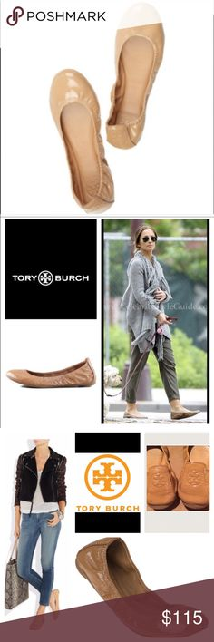 "💯 AUTHENTIC Tory Burch Eddie Nude Flats. NO TRADING. NO LOWBALLING!! Tonal leather lining; padded insole with logo patch. Leather ballerina flat with zigzag-stitched elastic collar for a secure fit. ""Eddie"" is imported. Perfectly scrunchy Tory Burch ballerina in buttery lambskin. Tory Burch Shoes Flats & Loafers"