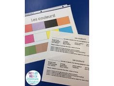 Colour assessment - Primary French Immersion Resources