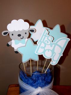 Boy Sheep Centerpieces/ Baby Shower/ Baby Sheep/ by Klutterella