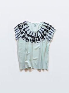 loving this hand painted silk tee from Rachel Rose #silk #tee #shirt #rachelrose
