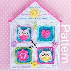 Owl House Clock Crochet Pattern