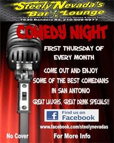 current comedy events  | ... Thursday Free Comedy Night - Steely Nevada's Bar & Lounge - Current