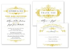 printable press wedding invitation