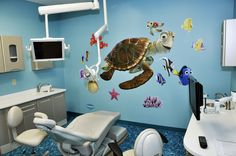 Kid friendly Finding Nemo dentist office decor!