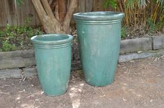 Turquoise Tall Planter