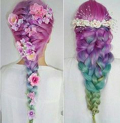 Pastel Hair Colors That Soften and Brighten Your Looks Pretty Hairstyles, Braided Hairstyles, Pelo Multicolor, Pastel Hair, Pastel Pink, Pink Hair, Lilac, Fantasy Hair, Coloured Hair