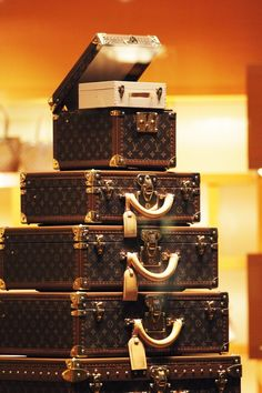 Ridiculously overpriced -- Louis Vuitton hard case luggage