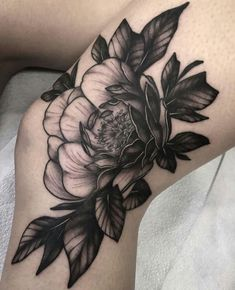 prettysimpletattoos: by Squire Strahan - Tattoos and babes ♡ Body Art Tattoos, Hand Tattoos, Sleeve Tattoos, Piercings, Piercing Tattoo, Peonies Tattoo, Peony Flower Tattoos, Flower Cover Up Tattoos, Flower Tattoo Hand