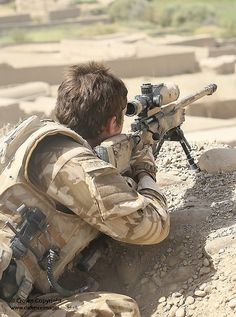 British sniper during Op Oqab Tsuka in Afghanistan
