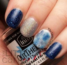 The Little Canvas: Twinsie Tuesday: Holiday Edition! Christmas and Hanukkah Manicures!