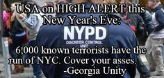 control freaks, thugs, killers, hassle, NYPD, terror threat, red alert, USA, New Year's Eve, fear the government, NYC, cops gone wild, Georgia Unity, CYA,