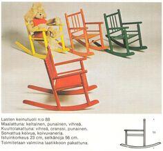 Niemen tehtaat, Finland. Keinutuoli, retro klassikko.
