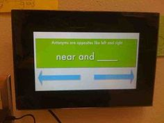 Use a digital picture frame for incidental learning... upload photos with sight words, definitions, math facts, etc.