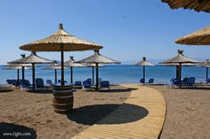 Beach Bar in beach, - Beach Bars, Countryside, Beaches, Gazebo, Greece, Outdoor Structures, Pavilion, Grease, Arbors