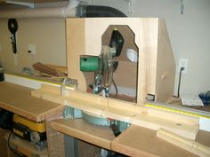 Homemade miter saw hood with dust collection