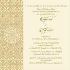 wedding invitation wording for muslim wedding ceremony