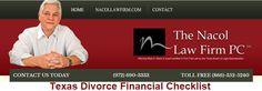 Texas Divorce Financial Checklist http://www.nacollawfirmblog.com/family-law/texas-divorce-financial-checklist