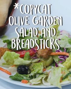 How To Make Copycat Olive Garden Salad -Tasty - Food Videos And Recipes Olive Garden Salad, Olive Garden Recipes, Olive Salad, Healthy Cooking, Cooking Recipes, Healthy Recipes, Receitas Do Olive Garden, Salad Dressing Recipes, Salad Recipes